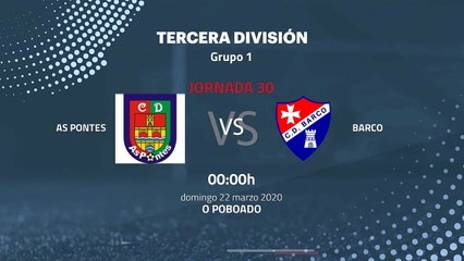 Previa partido entre As Pontes y Barco Jornada 30 Tercera División