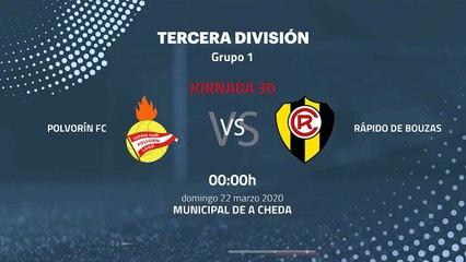 Previa partido entre Polvorín FC y Rápido de Bouzas Jornada 30 Tercera División