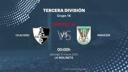 Previa partido entre CD Alfaro y Pradejón Jornada 30 Tercera División