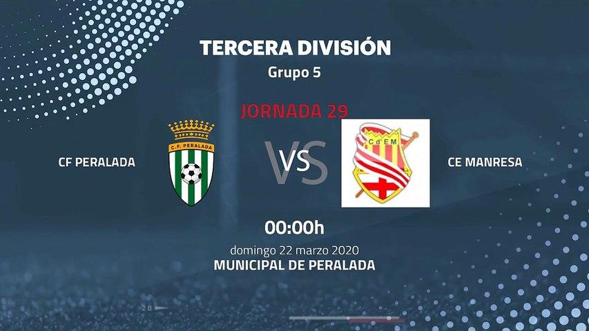 Previa partido entre CF Peralada y CE Manresa Jornada 29 Tercera División