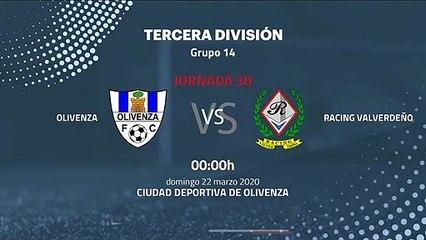 Previa partido entre Olivenza y Racing Valverdeño Jornada 30 Tercera División