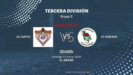 Previa partido entre UC Cartes y CF Vimenor Jornada 30 Tercera División
