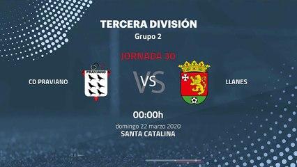 Previa partido entre CD Praviano y Llanes Jornada 30 Tercera División