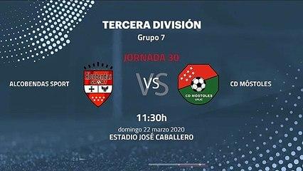 Previa partido entre Alcobendas Sport y CD Móstoles Jornada 30 Tercera División