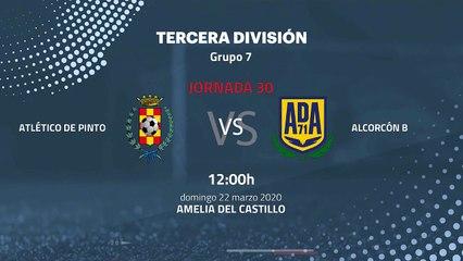 Previa partido entre Atlético de Pinto y Alcorcón B Jornada 30 Tercera División