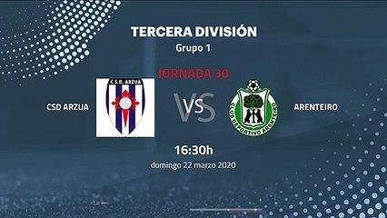 Previa partido entre CSD Arzua y Arenteiro Jornada 30 Tercera División