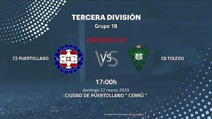 Previa partido entre CS Puertollano y CD Toledo Jornada 30 Tercera División