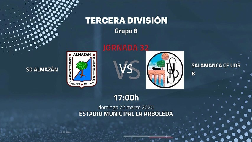 Previa partido entre SD Almazán y Salamanca CF UDS B Jornada 32 Tercera División