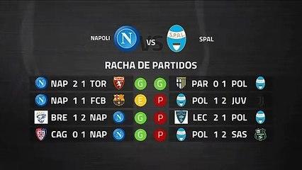 Previa partido entre Napoli y SPAL Jornada 28 Serie A