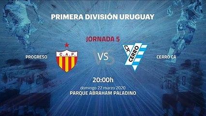 Previa partido entre Progreso y Cerro CA Jornada 5 Apertura Uruguay