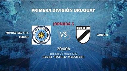 Previa partido entre Montevideo City Torque y Danubio Jornada 5 Apertura Uruguay