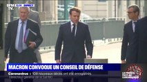 Emmanuel Macron se rend au ministère de l'Intérieur pour un conseil de défense