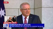 2020 MAR 19 PM Scott Morrison outlined further measures to combat the COVID-19 outbreak in Au