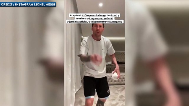 Lionel Messi s'essaye aussi au Stay At Home Challenge