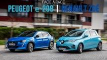 Face à face Renault Zoé - Peugeot e-208 (2020)