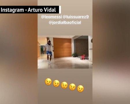 Coronavirus - Vidal répond de fort belle manière à Messi au challenge du papier toilettes