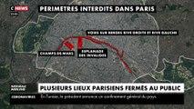 Quais, Champs-de-Mars, Invalides : la préfecture de police ferme des lieux publics
