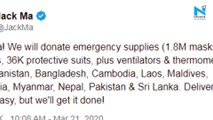 Alibaba founder Jack Ma to donate emergency supplies to South Asian countries amid Coronavirus outbreak