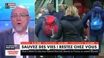 Malgré les appels et les menaces du gouvernement, des dizaines de personnes se pressent Gare Montparnasse ce matin pour prendre des trains