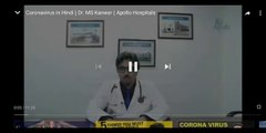 Coronavirus in hindi |Dr. MS KANWAR| Apollo Hospital/Symptoms/precautions/what is coronavirus explained fully in detailed way by interview