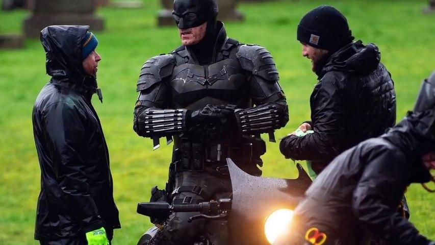 The Batman (2021) FOOTAGE Leaked Full Batsuit + BatBike