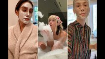 Celebrities share their self-care and beauty routines during quarantine