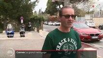 VIRUS - A Cannes, des agents municipaux répandent dans la rue un produit désinfectant pour tuer le coronavirus - VIDEO