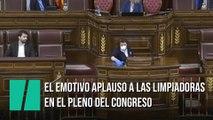 El aplauso a las limpiadoras en el Congreso de los Diputados