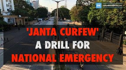 'Janta curfew' a drill for national emergency