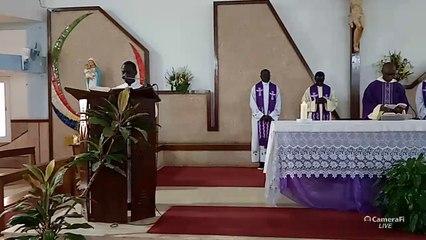 Messe du dimanche 22 mars 2020 par P. Cornelius (omi)