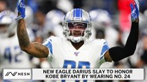 Darius Slay to honor Kobe Bryant by wearing No. 24