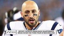 Report: Patriots bringing back Brian Hoyer
