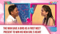 The man gave a bird as a first meet present to win his new girl's heart