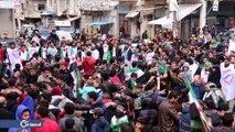 خروج مظاهرة في مدينة بنش شمال إدلب للتأكيد على أهداف الثورة
