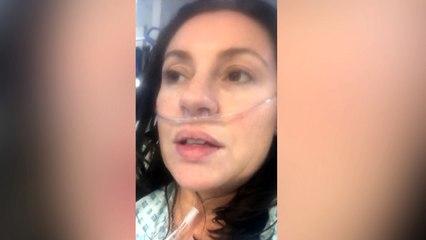 'Neem geen risico's,' waarschuwt COVID-19 patiënt vanuit ziekenhuisbed