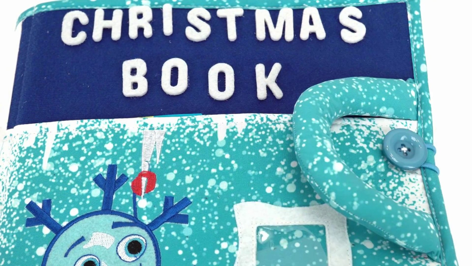 Piqipi Christmas Book with Velcro Activities for Kids-