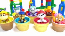 Paw Patrol help Build a Giant, Colorful Marble Maze-