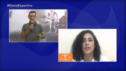 Diário Esportivo com Frank Herik, falando sobre a visita da presidente da federação paraibana de futebol Michelle Ramalho ao museu de esporte de Cajazeiras - 20/03/2020