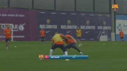 Le jour où Neymar a humilié Messi à l'entraînement