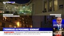 Comme tous les soirs, les Français applaudissent les soignants depuis leurs fenêtres