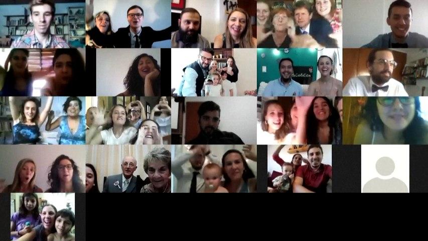 Coronavirus, amor y cuarentena: Pareja argentina celebra boda virtual