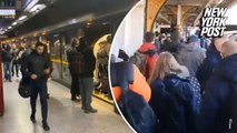 London Underground crowded as commuters pack tube stations