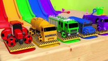 Learn Colors with Street Vehicle and Surprise Soccer Ball in Magic Water Slide for Kids