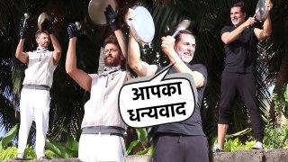 Akshay kumar & Hrithik roshan Support JANTA CURFEW At Juhu Beach Mumbai