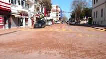 Türkiye'nin en yaşlı nüfus oranına sahip şehri Sinop'ta, sokağa çıkma yasağı sonrası caddeler bomboş görüntülendi