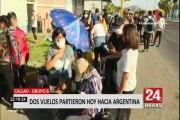 Argentinos varados en Perú regresan a su país