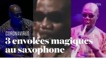 Trois envolées de Manu Dibango au saxophone