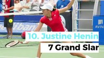 Top 10 female tennis players with more Grand Slam