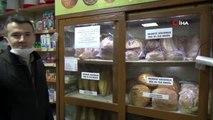 Düzce'de ekmeklere korona virüs tedbiri