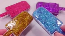 Kids Love To Play Glitter Ice Cream Mixing Slime Learn Colors Clay Mix Surprise Eggs Toys For Kids